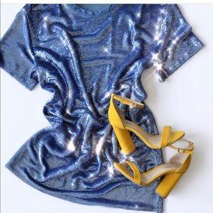 Sequin shirt dress